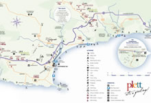 Map of the Plett Winelands Route